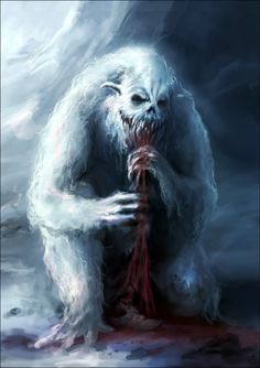 This would haunt my nightmares. Monster Concept Art, Monster Art, Creature Concept Art, Creature Design, Fantasy Kunst, Fantasy Art, Beast Creature, Yeti Creature, Vikings