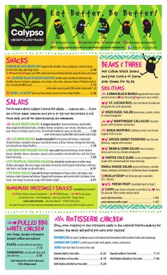 Nashville, TN Restaurant Menu – Casual Dining, Healthy Eating – Chicken, Salads & More - Calypso Cafe