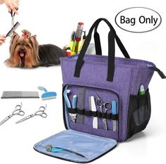 Teamoy Pet Grooming Tote, Dog Grooming Supplies Organizer Bag for Grooming Tool Kit and Dog Wash Shampoo Accessories(Bag ONLY) #doggrooming