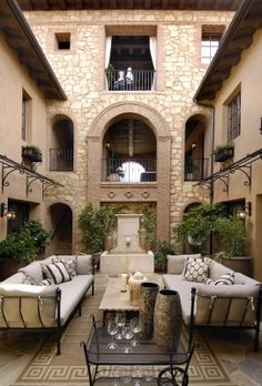 This courtyard looks like a cozy room.