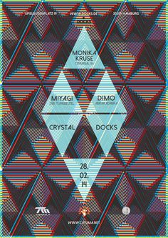 ›Cystal Docks‹ Logo and Poster | Art Direction/Design on Behance