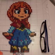Anna Frozen perler bead sprite by nicknitro81