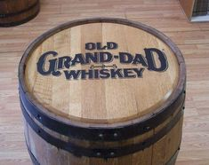 Old-Grand-Dad  Whiskey Barrel-Sanded-Finished-FREE SHIPPING #OldGrandDad
