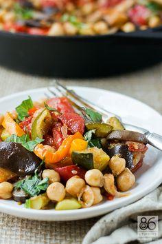 Chickpea Ratatouille #vegan #glutenfree #recipe  86lemons.com