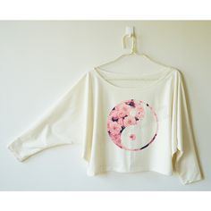 Floral Yin Yang Shirt Floral Shirt Funny Shirt Text Shirt Cool Tee... ($16) ❤ liked on Polyvore
