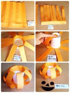 ハロウィン 工作 簡単 紙コップ 作り方 かぼちゃランタン|大阪市北区oursアワーズマンション子育てサークルのブログ 炊飯器料理、こどもが喜ぶ工作