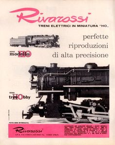 Pubblicità originale anni 60 Treni elettrici RIVAROSSI 1963 advertising werbung