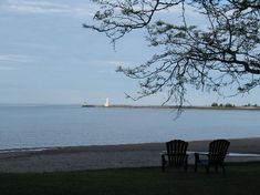 Lake Ontario beach at The Breakers Cobourg