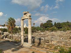 """* Ilha de Kos *  Grécia. Ruínas de uma """"Ágora""""."""