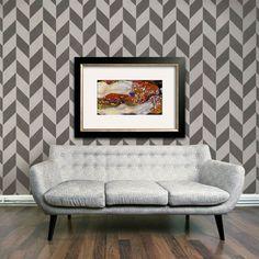 Herringbone Pattern Wall Stencils | Royal Design Studio