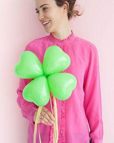 4-Leaf Clover Balloon Sticks DIY