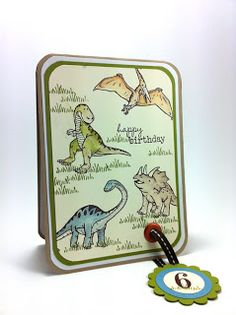 Stampin Up - Dinoroar - Birthday Card - Boy