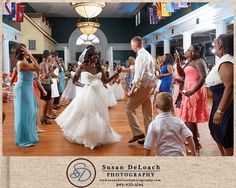 Beaufort Weddings - a festive wedding reception held at the Lyceum aboard MCRD Parris Island in Beaufort, SC.