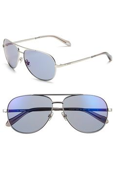 Fossil 'Alex' 59mm Aviator Sunglasses available at #Nordstrom