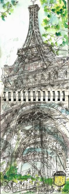 Easy-and-Beautiful-Eiffel-Tower-Drawing-and-Sketches