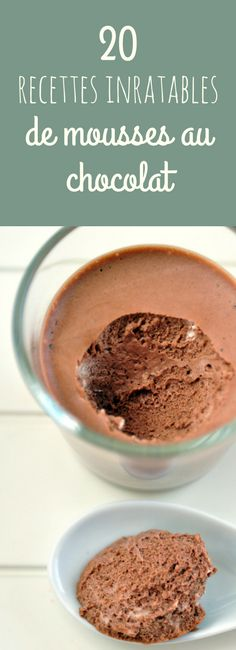 Egg-free chocolate mousse, lactose-free, gluten-free, classic chocolate mousse or vegan mousse … 20 easy, fast and irresistible recipes of delicious chocolate mousse! Fancy Desserts, No Cook Desserts, Healthy Desserts, No Gluten Diet, Foods With Gluten, Good Food, Yummy Food, Tasty, Tiramisu