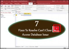 Know the reasons why your Access won't close. Try some best fixes to resolve can't close Access database Issue. Fix 1. Decompile And Recompile and more.. Insert Image, Save Yourself, Microsoft, Canning, Home Canning, Conservation