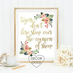 Tigers don't lose sleep over the opinion of sheep by DecorGold