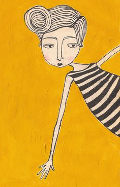 girl in stripes (4x6 print). $5.00, via Etsy.