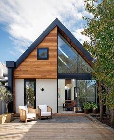 Modern Barn House, Modern House Design, Modern Houses, Tiny Houses, Modern House Exteriors, Barn House Design, Tiny House Exterior, House Outside Design, Cottage Design