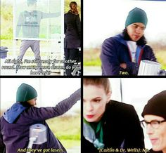 """No! """"Revenge of the Rogues"""" Cisco, Barry, Caitlin and Wells"""