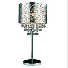Table Lamps At Home Depot Amusing Rossini Chrome Table Lamp  With Black Shade And Crystals Home Depot Design Ideas