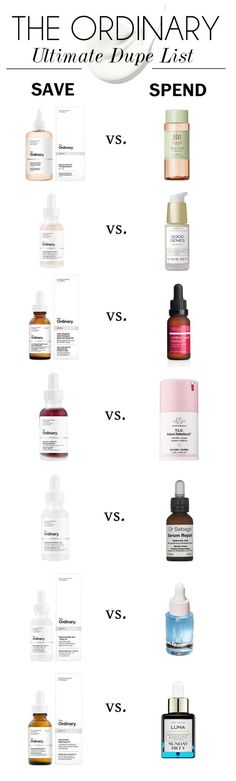 The-Ordinary-Dupe-List skincare dupes The-Ordinary-Dupe-List Hautpflege-Dupes Skincare Dupes, Beauty Dupes, Beauty Skin, Beauty Hacks, Skincare Routine, Face Beauty, The Ordinary Dupes, The Ordinary Skincare, Makeup Ideas