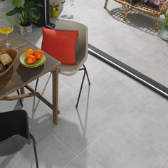 Transform those interior floor spaces with the introduction of these charming grey Fossil Tiles. Made from durable porcelain, they have a subtle matt finish and a gripping anti slip surface. White Wall Tiles, Grey Floor Tiles, Wall And Floor Tiles, Grey Flooring, Floors, Porcelain Tile Cleaner, House Color Schemes Interior, Wall Tile Adhesive, Terrace Floor
