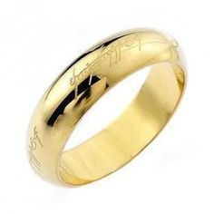 Mens Sterling Silver Lord Of The Ring Jewelry Gold Plated