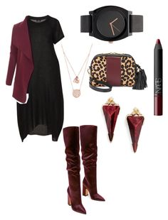 """""""Sin"""" by mcasspr on Polyvore featuring LE3NO, Isaac Mizrahi, Michael Kors, NARS Cosmetics and Kendra Scott"""