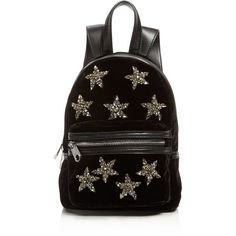 Cynthia Rowley Velvet Mini Backpack (425 RON) ❤ liked on Polyvore featuring bags, backpacks, backpack, velvet bags, star backpack, velvet backpack, mini rucksack and star bag