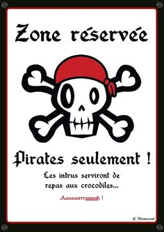 """""""Pirates solely"""" poster to print Deco Pirate, Pirate Theme, Decoration Pirate, Pirate Halloween, Halloween Party, Pirate Birthday, 30th Birthday, Poster S, Happy B Day"""