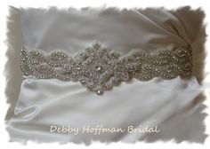 Custom Order for Kristina Beaded Rhinestone by DebbyHoffmanBridal, $176.00