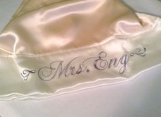 Silk Pillowcase Personalized Standard or King by AdorabellaBaby, $52.99