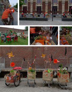 Collectif Saprophythes, politico-urbain. Roubaix - 2009  Potagers mobiles  jardinage déambulatoire caddies détournés