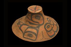Charles Edenshaw, Eagle Hat, c. 1890. Spruce root, paint. Museum of Anthropology, The University of British Columbia, Vancouver, Photo: Trevor Mills, Vancouver Art Gallery. Vancouver Art Gallery presents the first major survey exhibition of iconic Haida artist Charles Edenshaw, October 26, 2013 to February 2, 2014.