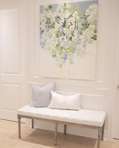 Wall Paneling Paint Color: Benjamin Moore Simply White OC-17.  Sonja – Instagram @jshomedesign.