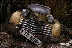Fascinating World of Automotive Photography- Opel Olympia by Holger Droste Olympia, Urban Decay Photography, Pompe A Essence, Abandoned Cars, Abandoned Places, Abandoned Vehicles, Abandoned Homes, Abandoned Buildings, Automotive Photography