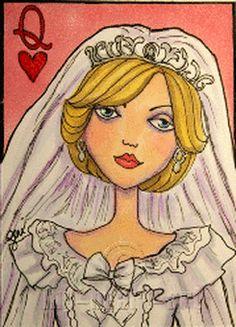 Diana - Queen of Hearts by artist Geri Centonze