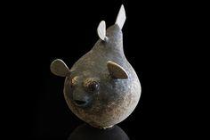 Puffer, Ville Heimala, 2013. Ceramic sculpture, diam. 37 cm, length 60 cm.