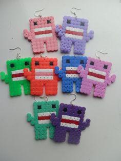 funky monster earrings, MADE TO ORDER...hama / perler beads
