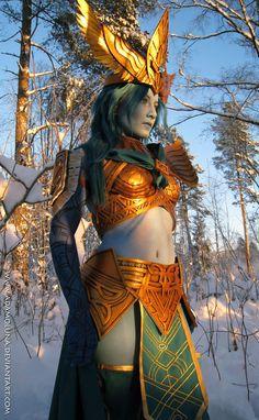 Elven Armour:  http://adamoluna.deviantart.com/art/Victory-148587264?q=boost%3Apopular%20in%3Aartisan%2Fcostumes%2Fcostumes%2Fcosplay=121