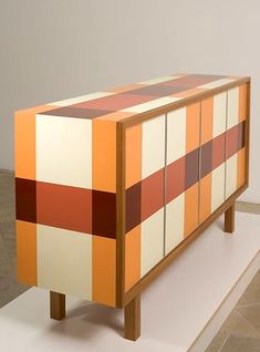 plaid credenza by Thomas Wold ( living room / furniture / design / side board )