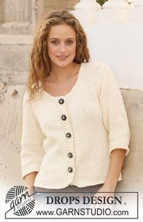 Basic patterns - Free knitting patterns and crochet patterns by DROPS Design Sweater Knitting Patterns, Arm Knitting, Cardigan Pattern, Crochet Cardigan, Knitting Stitches, Knit Patterns, Knit Crochet, Drops Design, Magazine Drops