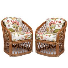 Chic Shop - Pair of Rattan Chairs with Cushions, $1200.00