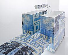 Привлекательный футуристический и модный Ванные комнаты : Ультра современные и шикарные Ванные комнаты идеи дизайна