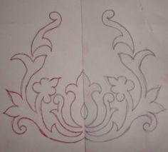 Embroidery on tote fold and paper cut large shape templates for big back pieces in henna Iron On Embroidery, Embroidery Transfers, Paper Embroidery, Hand Embroidery Patterns, Beaded Embroidery, Beading Patterns, Cross Stitch Patterns, Piercing Chart, Henna Tattoo Designs
