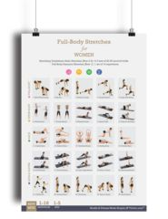 Fitwirr Stretching Exercise Poster for Women 19 X 27