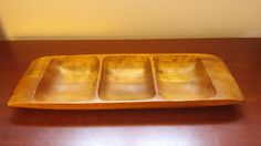 Used Shabby Chic Wooden Three Compartment by VintageInspiredNow