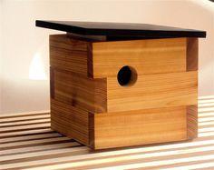 Mid Century Modern Birdhouse. , via Etsy.  #modern #birds